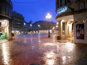 Plaza Mayor of Burgos, Raining at Night