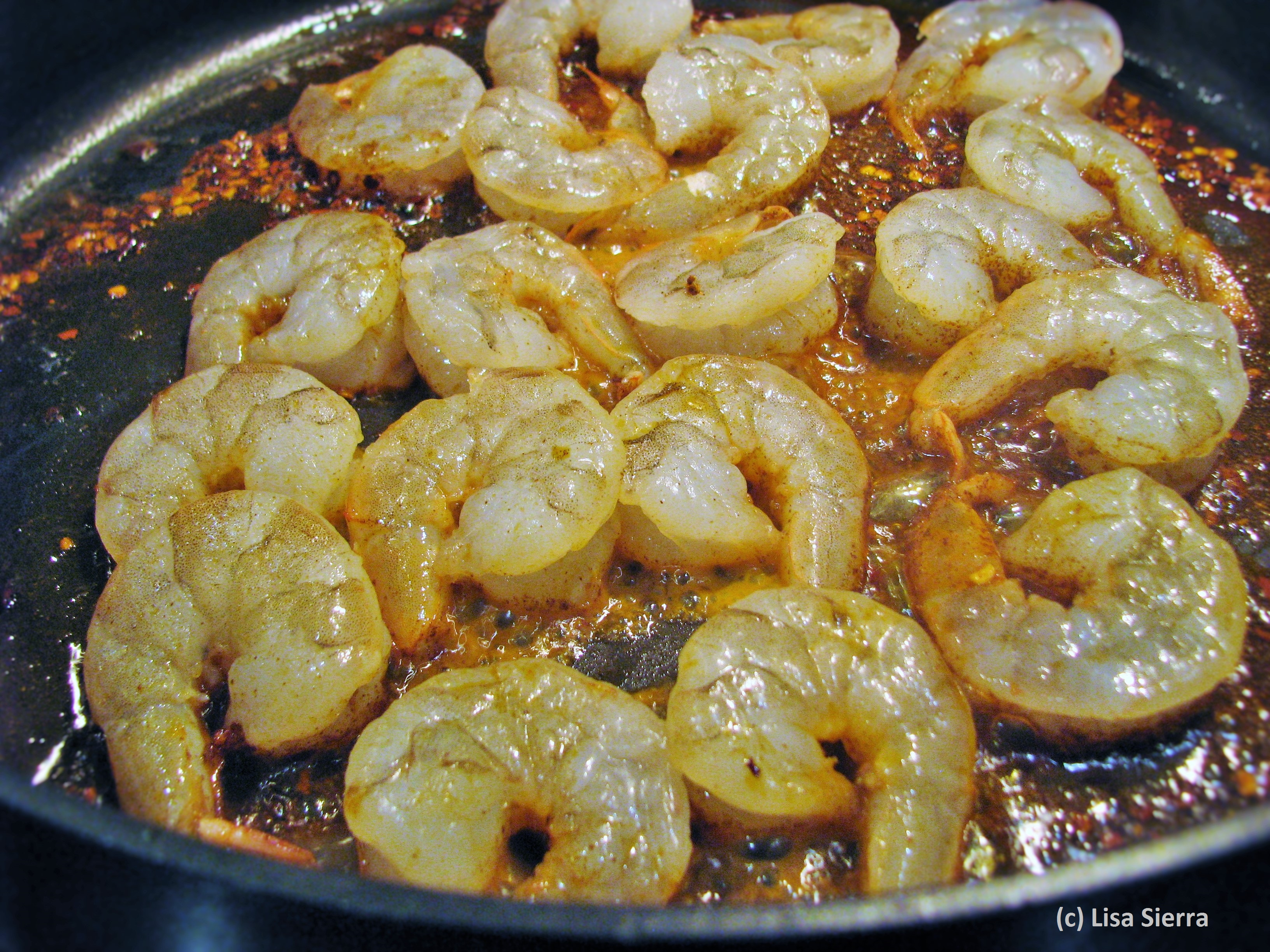 Gambas al Ajillo in Pan