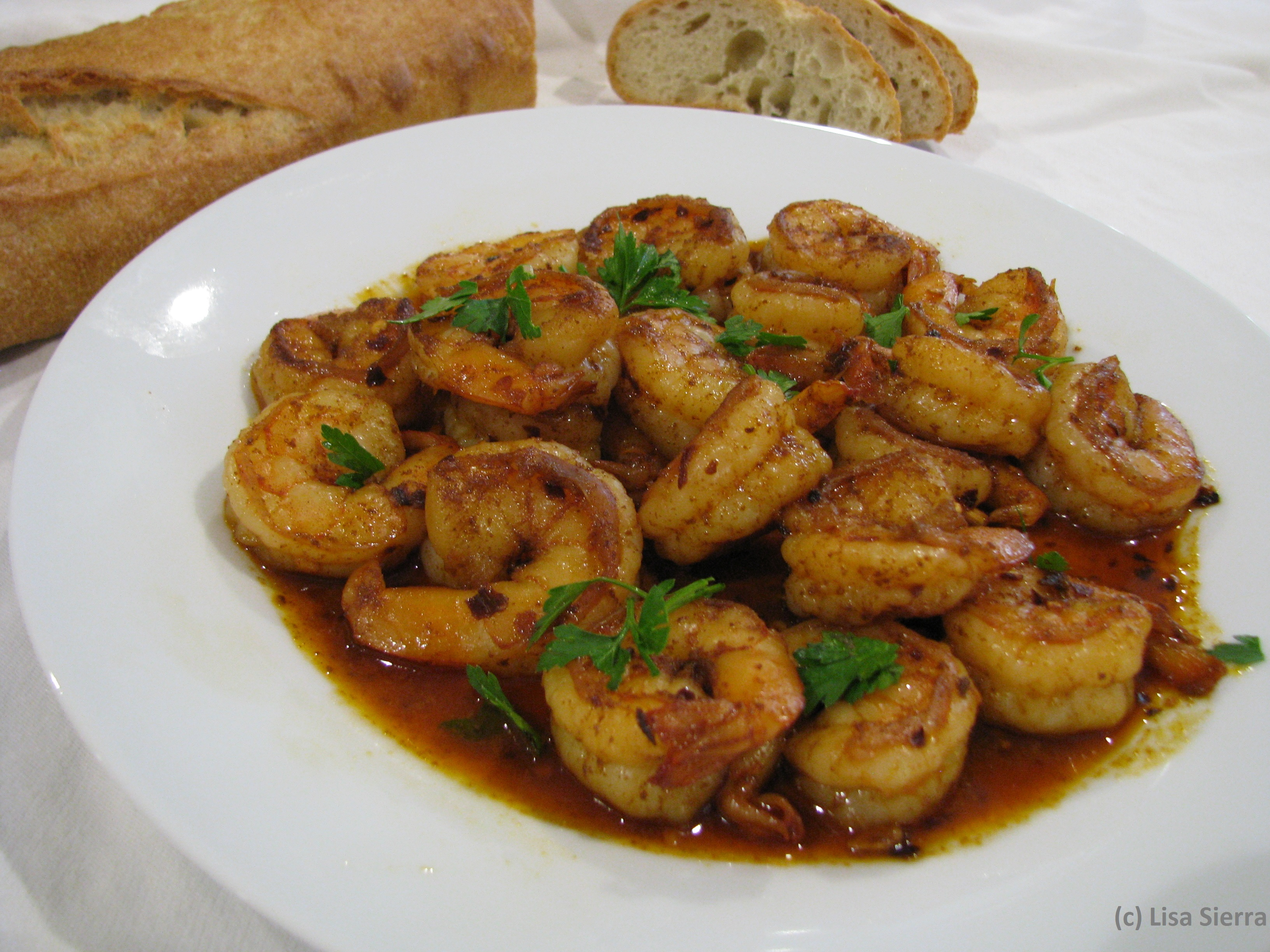 Gambas al Ajillo - Garlic Shrimp with Spanish Paprika